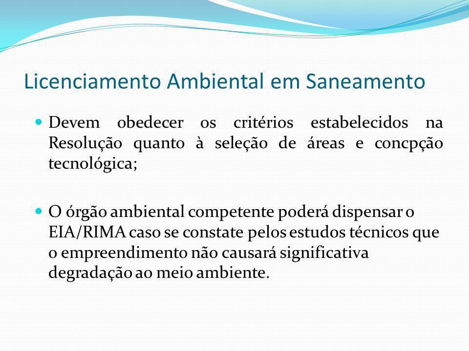Licenciamento Ambiental em Saneamento