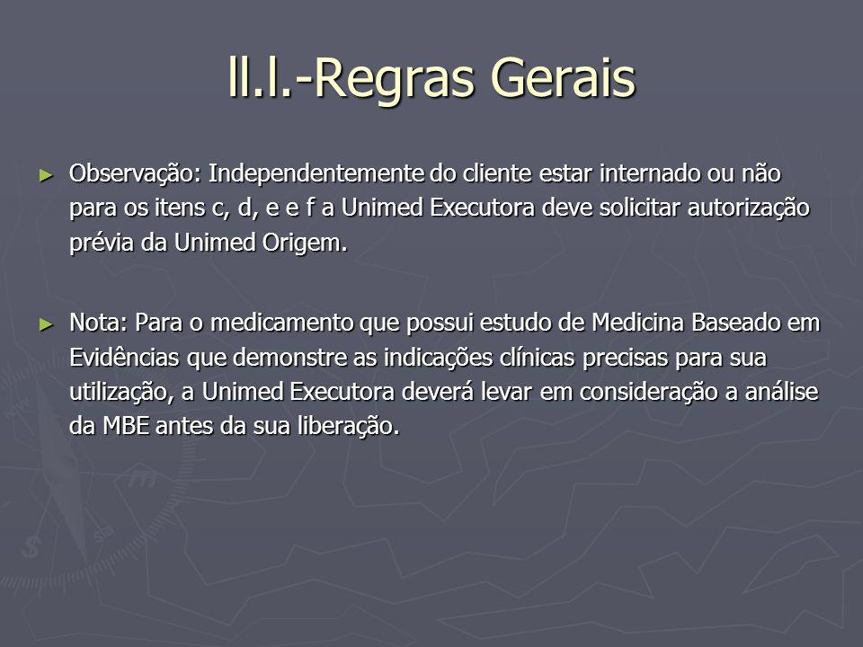 ll.l.-Regras Gerais