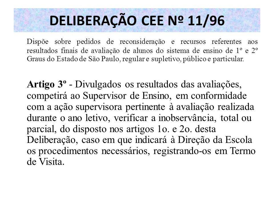 DELIBERAÇÃO CEE Nº 11/96