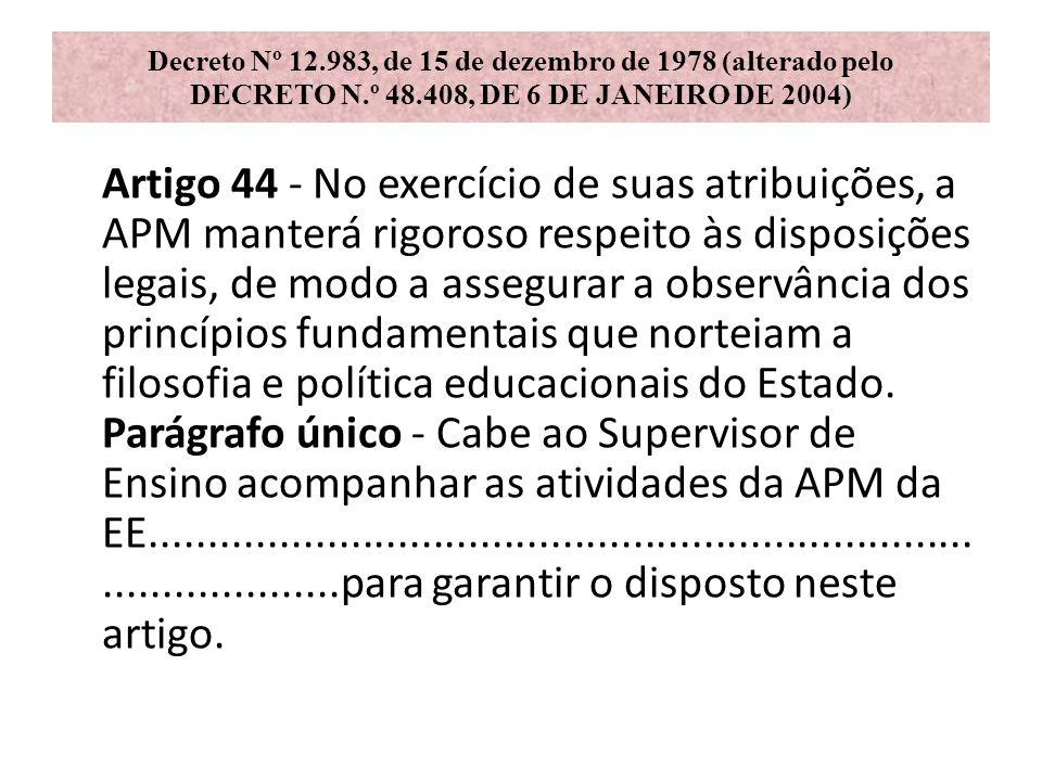 Decreto Nº 12. 983, de 15 de dezembro de 1978 (alterado pelo DECRETO N