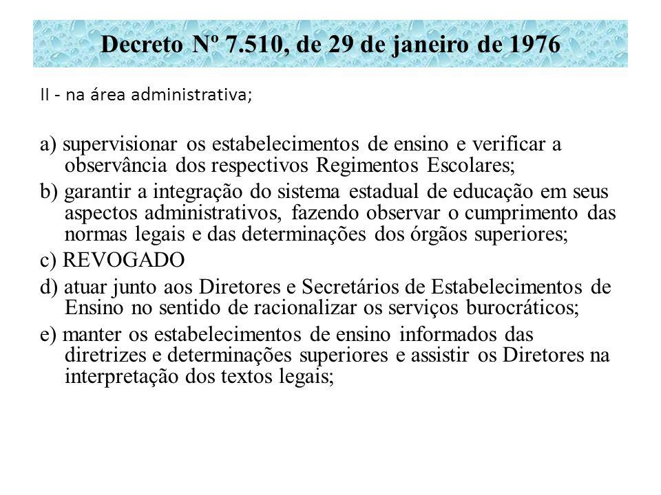 Decreto Nº 7.510, de 29 de janeiro de 1976