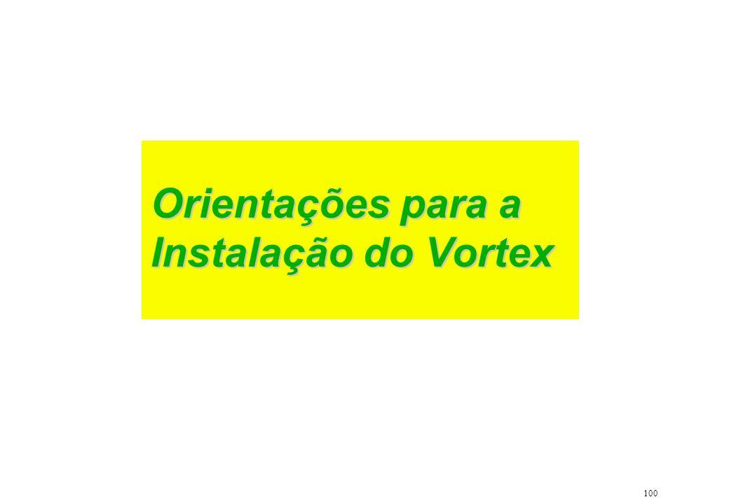 Orientações para a Instalação do Vortex