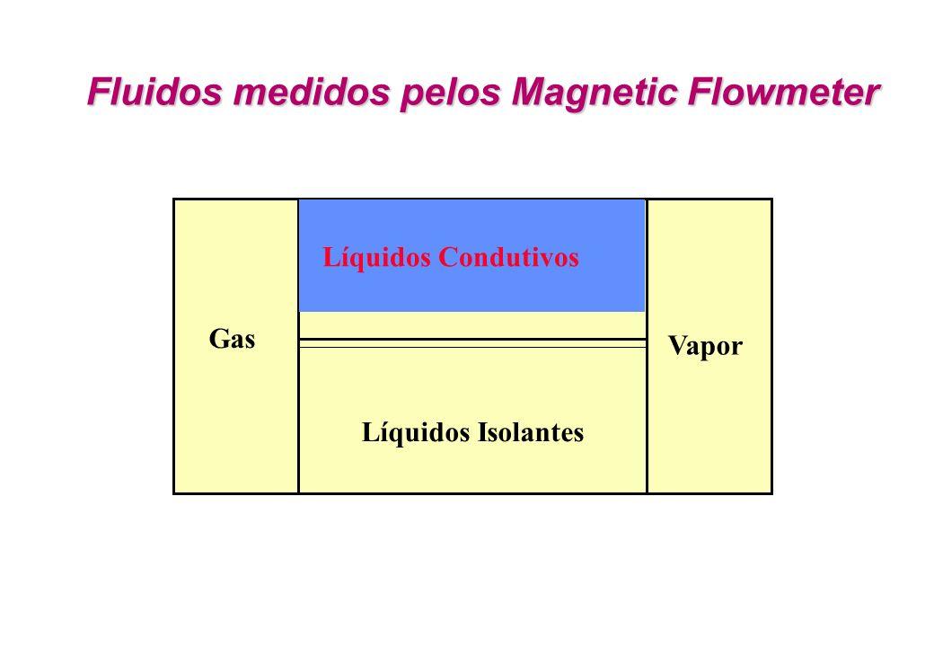 Fluidos medidos pelos Magnetic Flowmeter