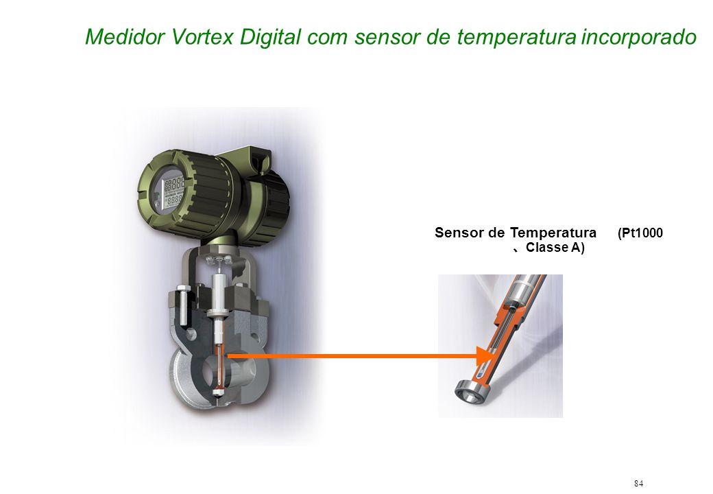 Medidor Vortex Digital com sensor de temperatura incorporado