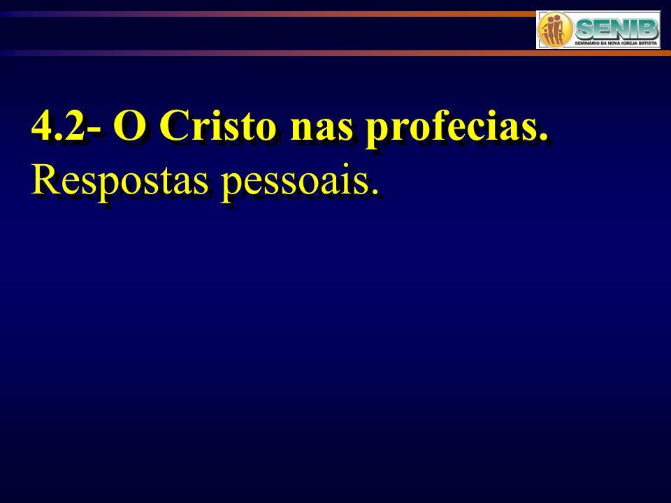 4.2- O Cristo nas profecias.