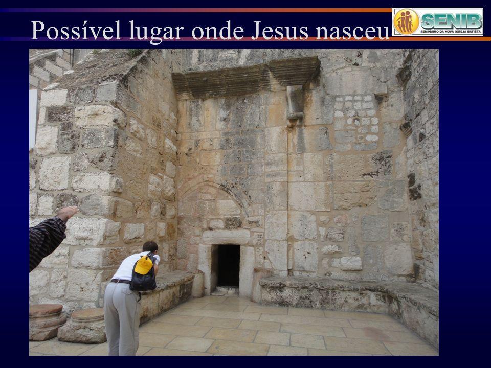 Possível lugar onde Jesus nasceu