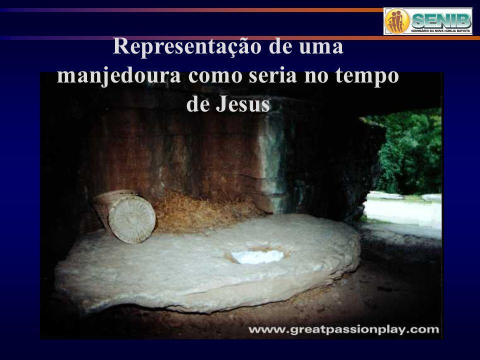 Representação de uma manjedoura como seria no tempo de Jesus