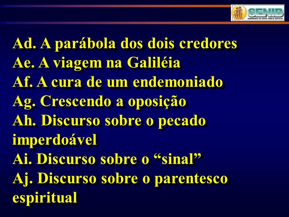 Ad. A parábola dos dois credores