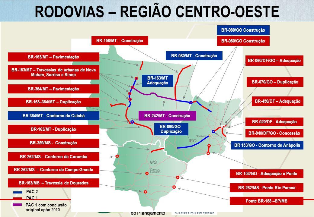 RODOVIAS – CENTRO-OESTE RODOVIAS – REGIÃO CENTRO-OESTE