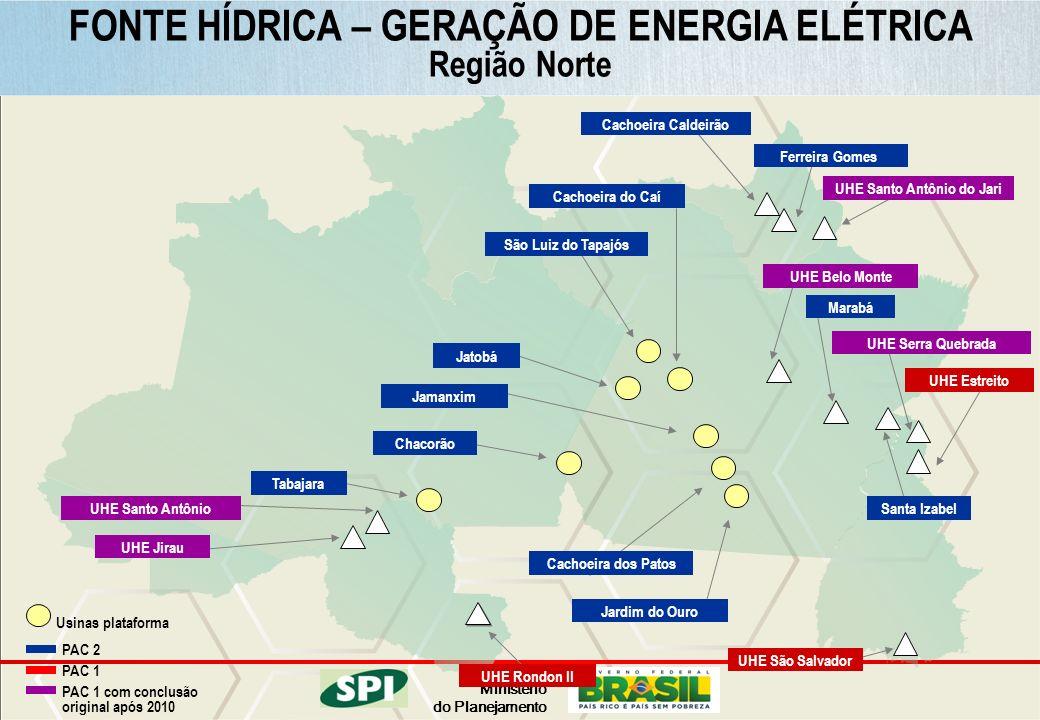 FONTE HÍDRICA – GERAÇÃO DE ENERGIA ELÉTRICA UHE Santo Antônio do Jari
