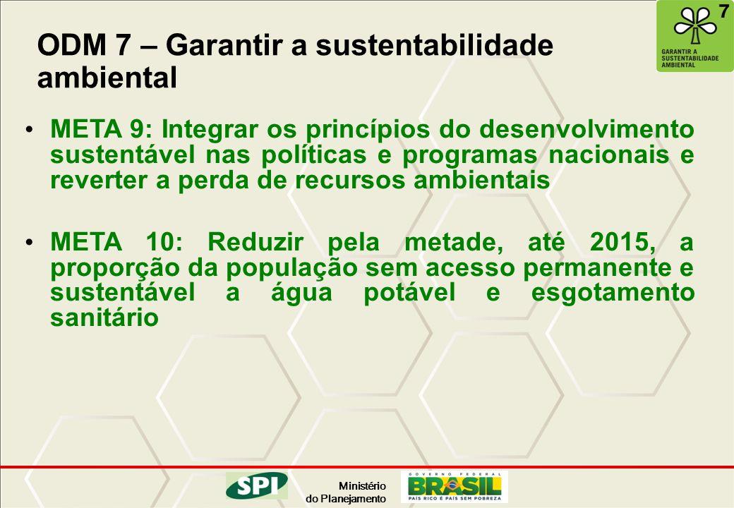 ODM 7 – Garantir a sustentabilidade ambiental