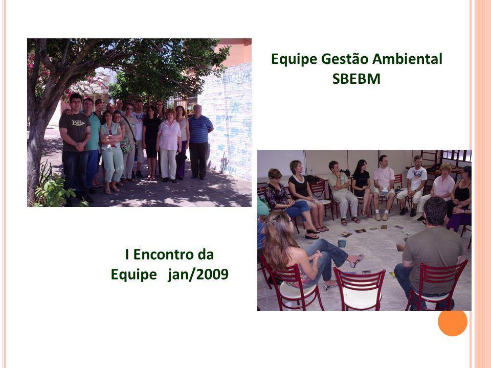 Equipe Gestão Ambiental SBEBM I Encontro da Equipe jan/2009