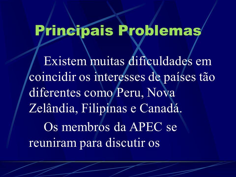 Principais Problemas Os membros da APEC se reuniram para discutir os