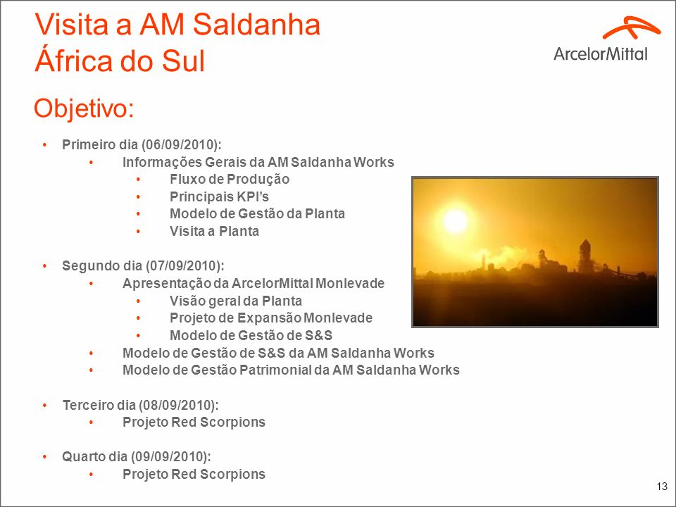 Visita a AM Saldanha África do Sul