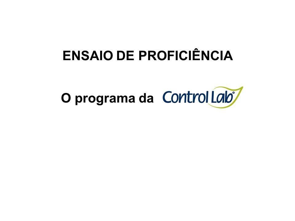 ENSAIO DE PROFICIÊNCIA