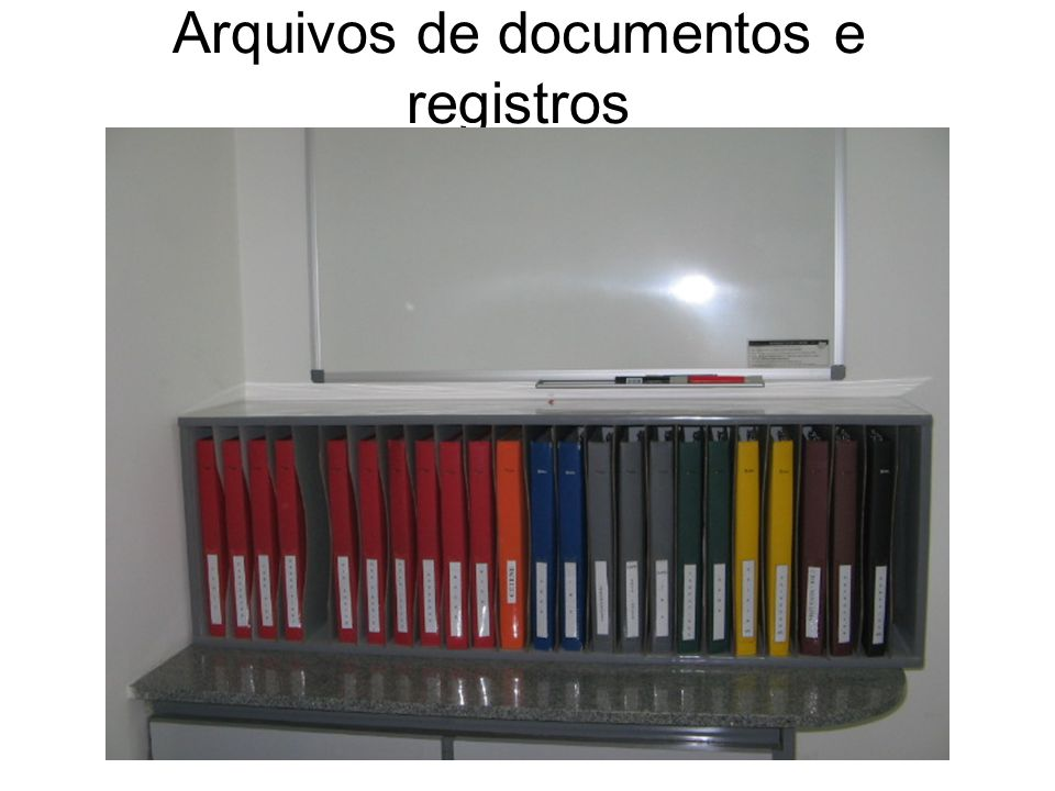 Arquivos de documentos e registros