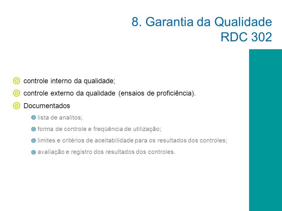 8. Garantia da Qualidade RDC 302