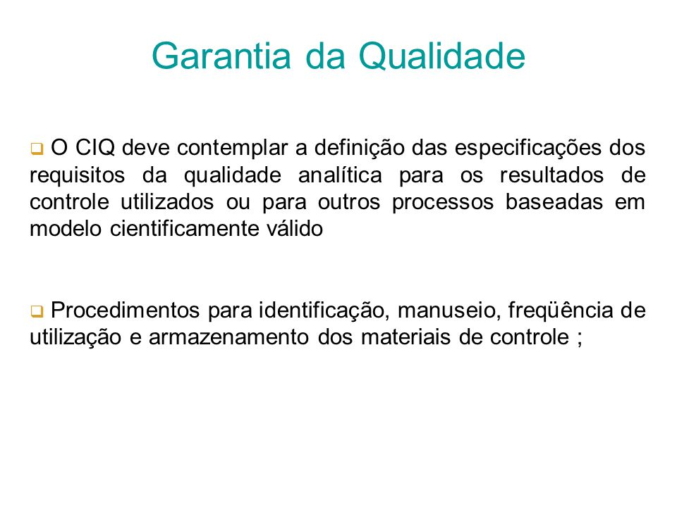 Garantia da Qualidade