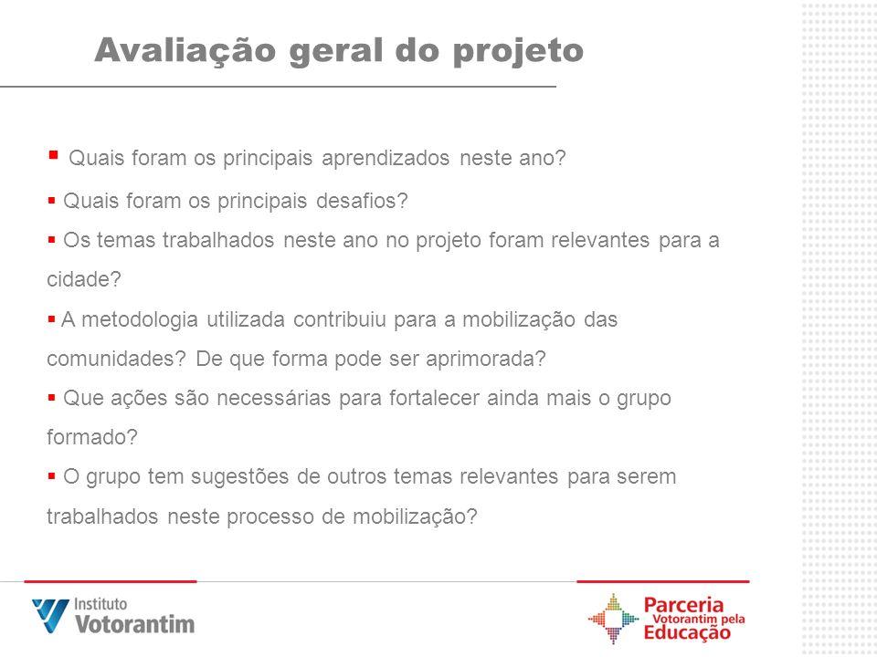 Avaliação geral do projeto