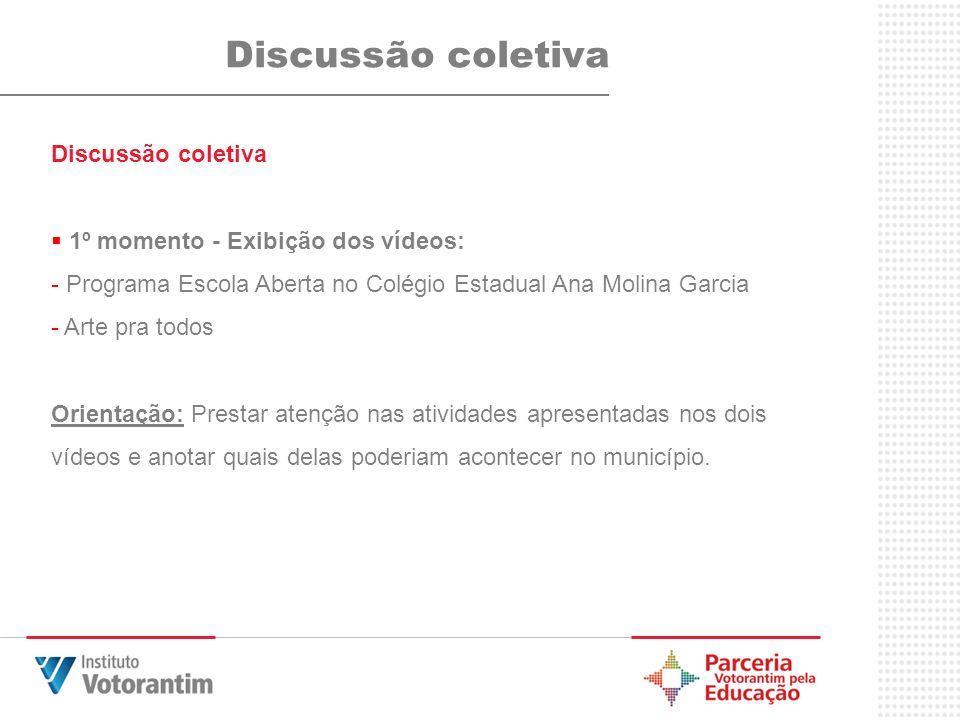 Discussão coletiva Discussão coletiva