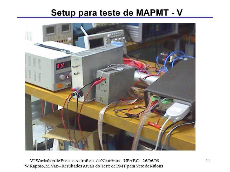 Setup para teste de MAPMT - V