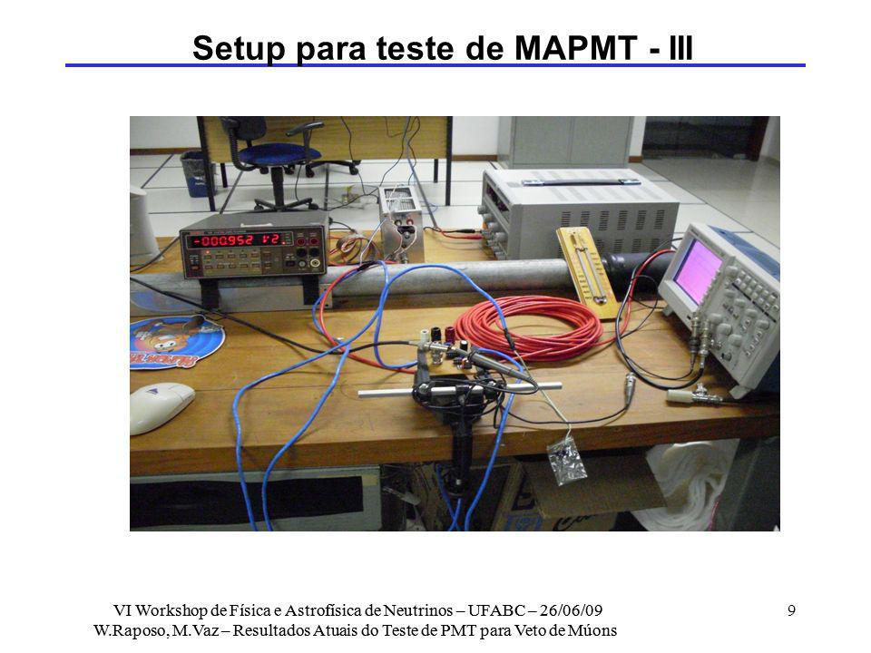 Setup para teste de MAPMT - III
