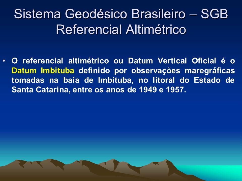 Sistema Geodésico Brasileiro – SGB Referencial Altimétrico