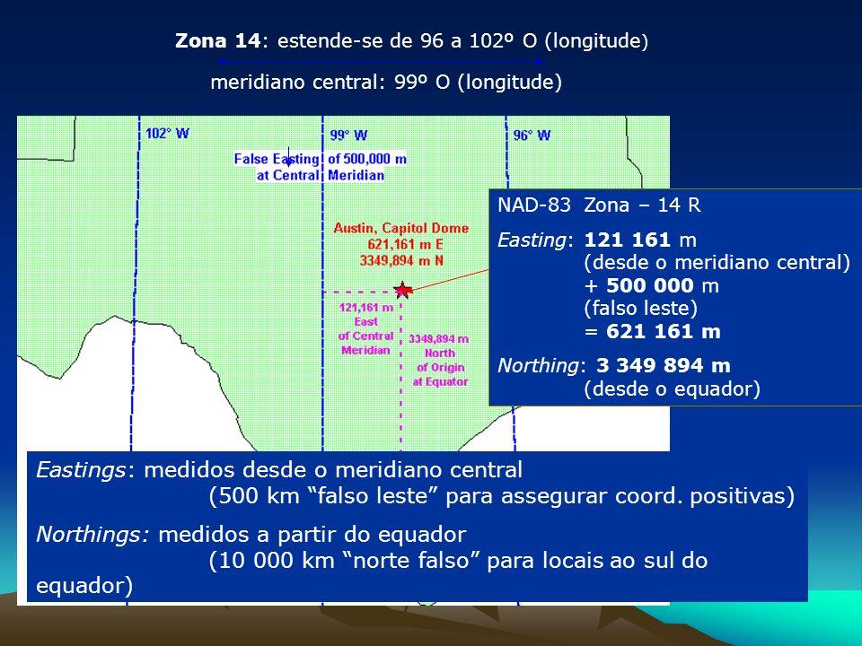 Zona 14: estende-se de 96 a 102º O (longitude)
