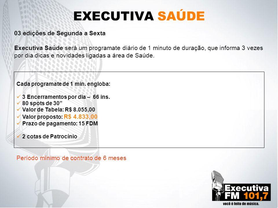EXECUTIVA SAÚDE 03 edições de Segunda a Sexta
