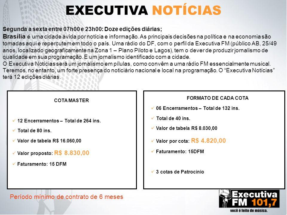 EXECUTIVA NOTÍCIAS Período mínimo de contrato de 6 meses