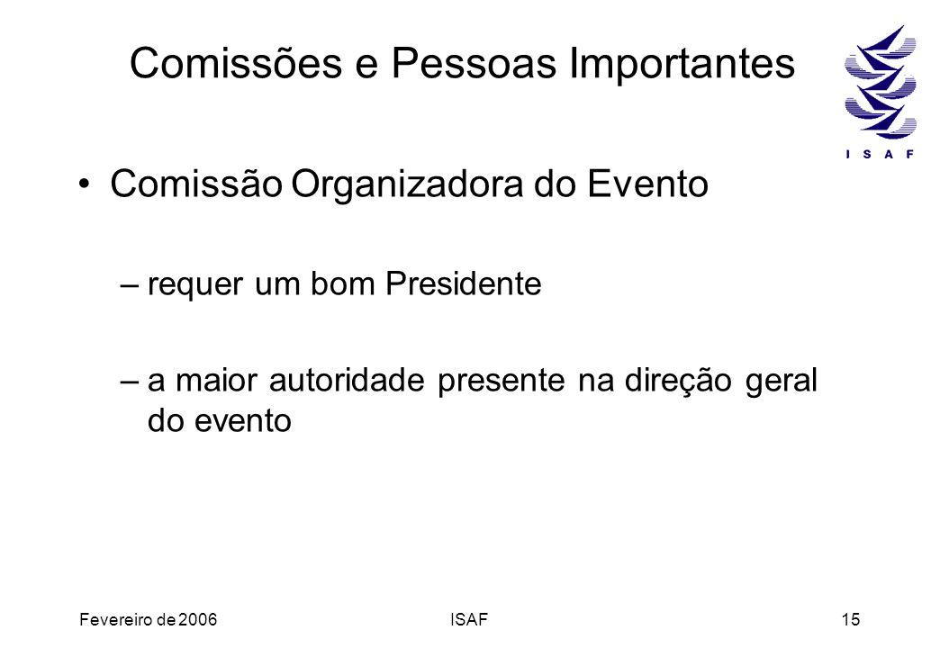 Comissões e Pessoas Importantes