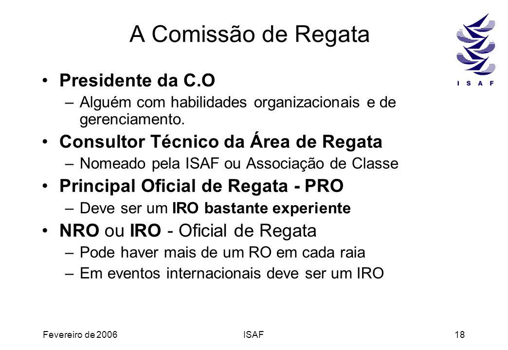 A Comissão de Regata Presidente da C.O