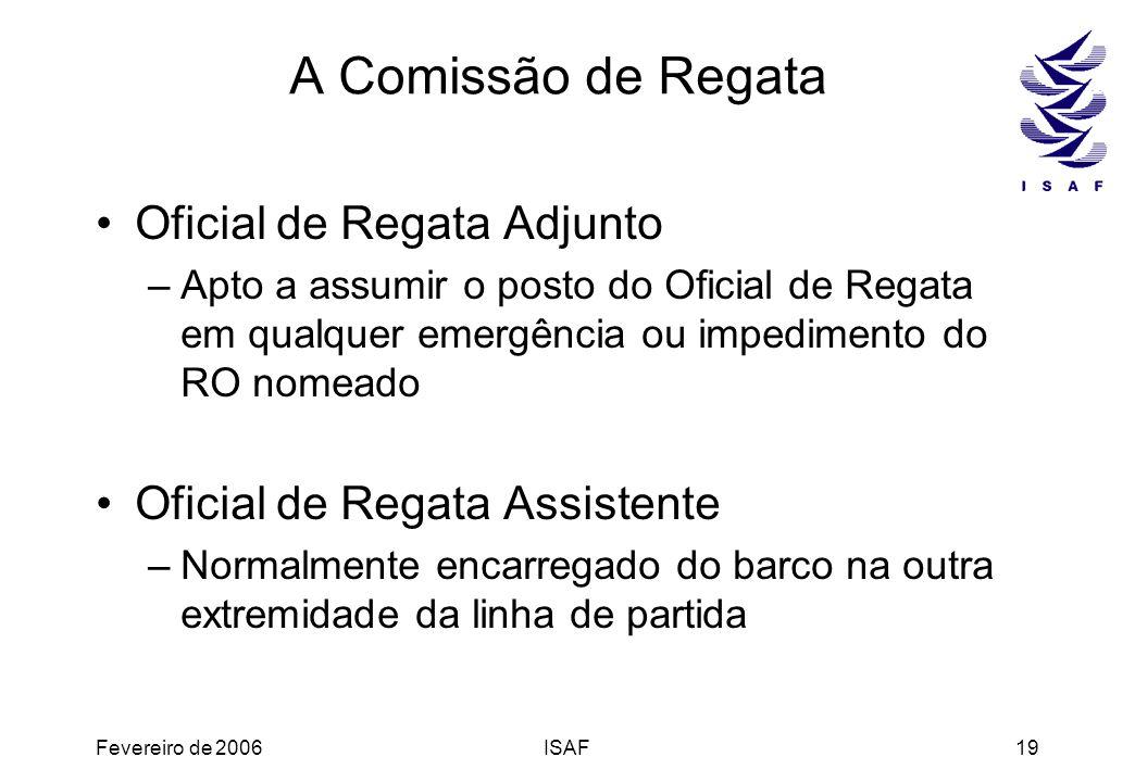 A Comissão de Regata Oficial de Regata Adjunto