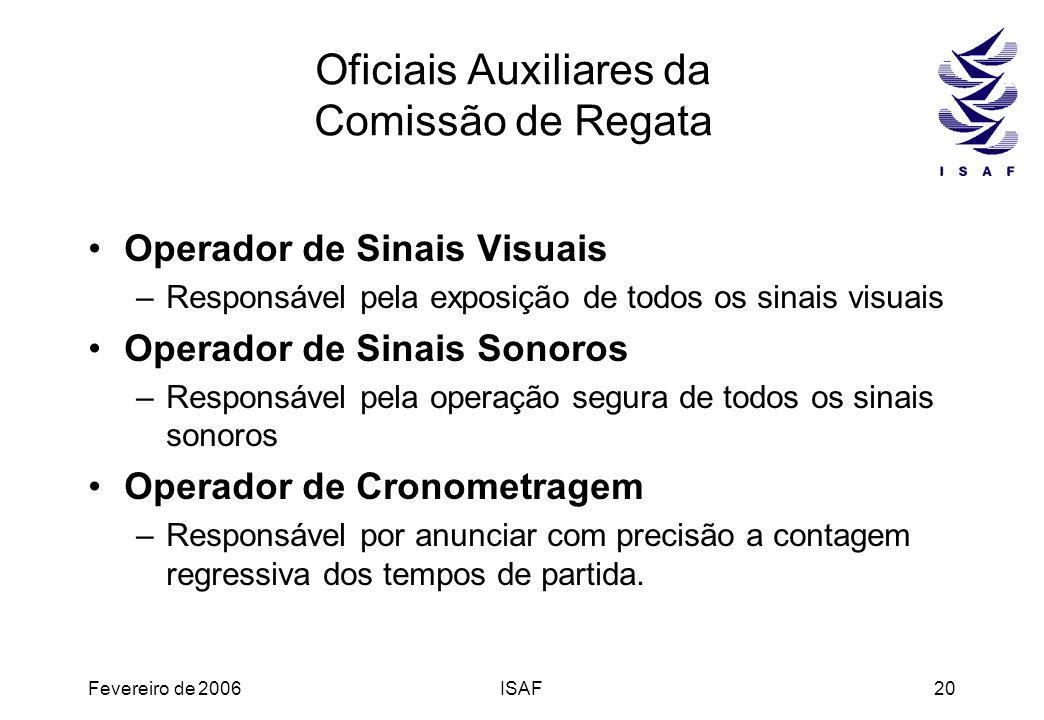 Oficiais Auxiliares da Comissão de Regata
