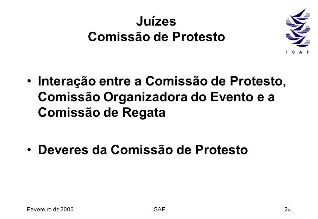 Juízes Comissão de Protesto