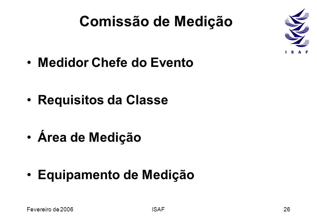 Comissão de Medição Medidor Chefe do Evento Requisitos da Classe