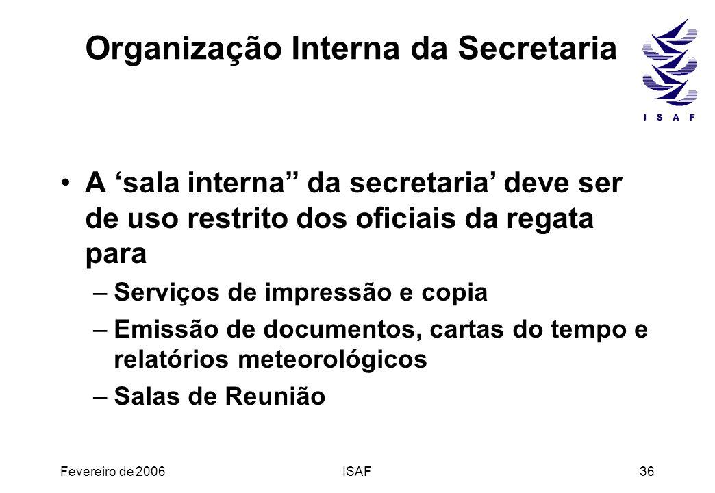Organização Interna da Secretaria