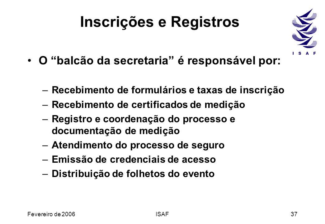 Inscrições e Registros