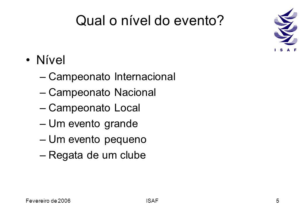 Qual o nível do evento Nível Campeonato Internacional