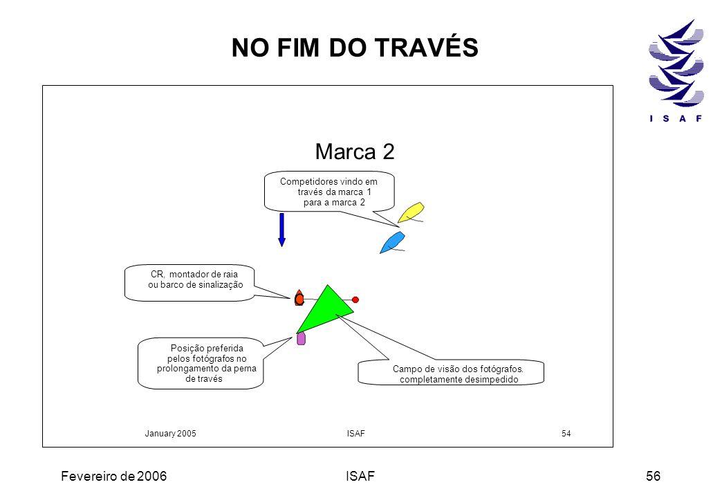 NO FIM DO TRAVÉS Marca 2 Fevereiro de 2006 ISAF Competidores vindo em
