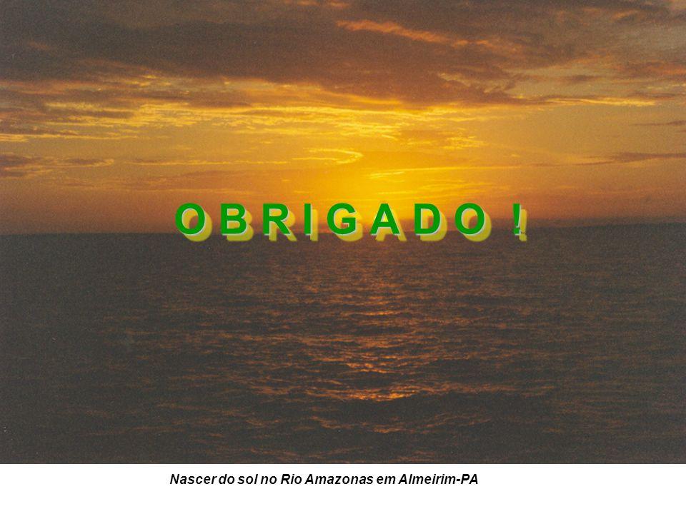 Nascer do sol no Rio Amazonas em Almeirim-PA