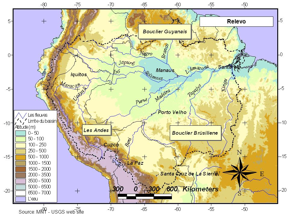 Relevo Source: MNT - USGS web site