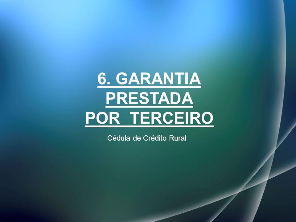 6. GARANTIA PRESTADA POR TERCEIRO