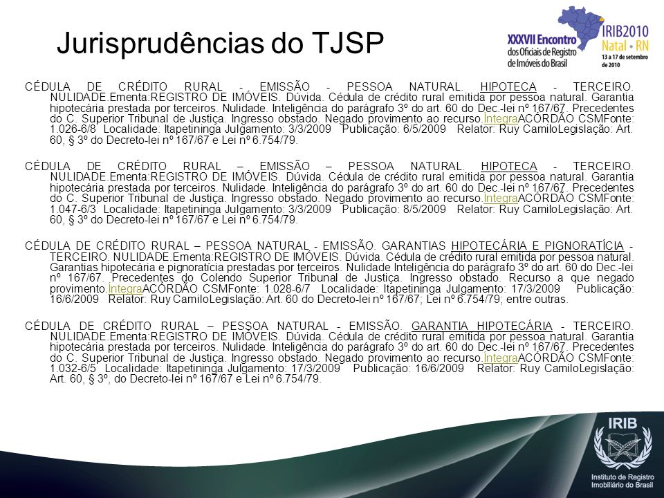 Jurisprudências do TJSP