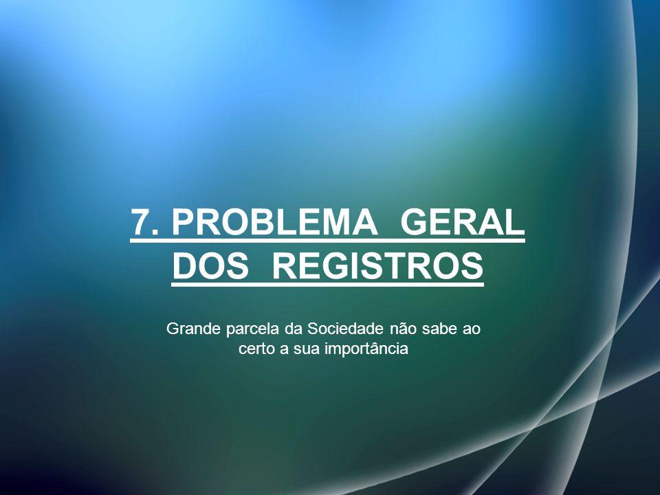 7. PROBLEMA GERAL DOS REGISTROS