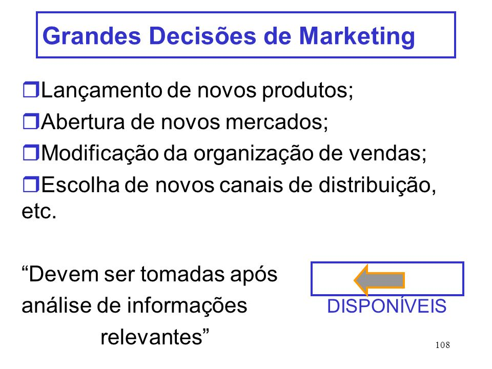 Grandes Decisões de Marketing