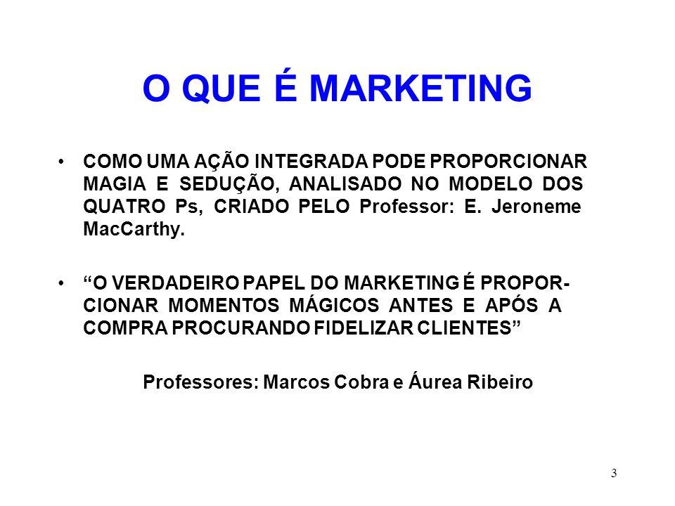Professores: Marcos Cobra e Áurea Ribeiro