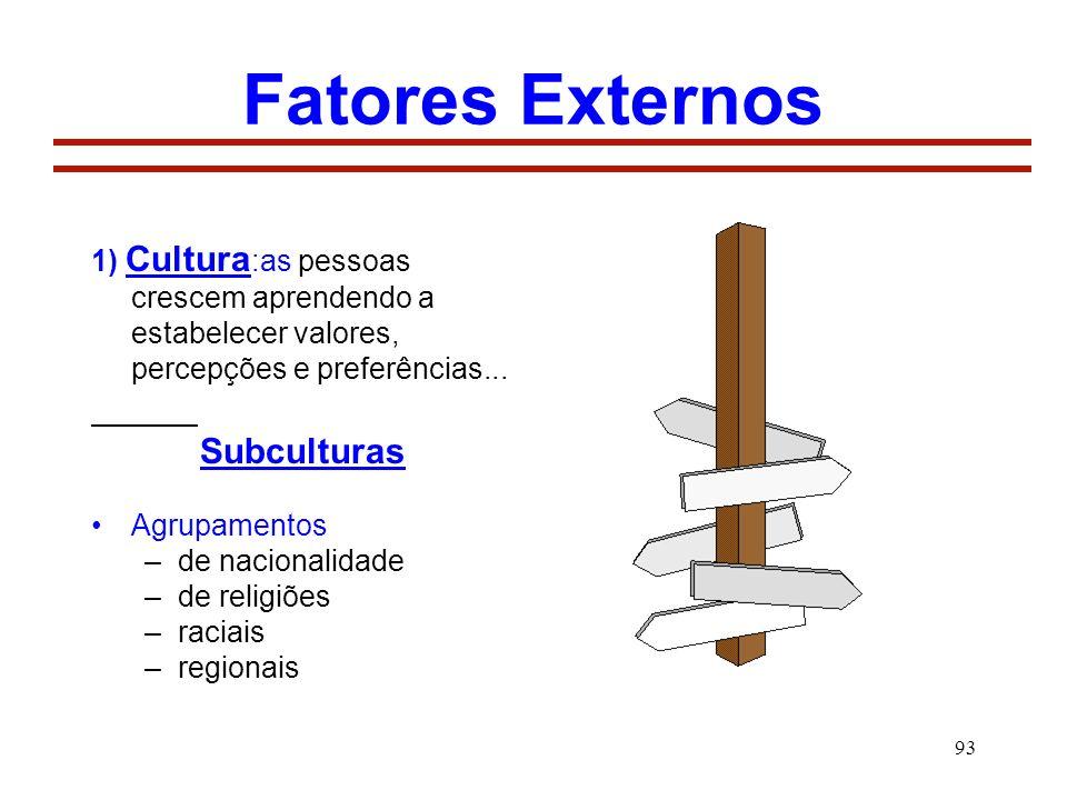 Fatores Externos Subculturas