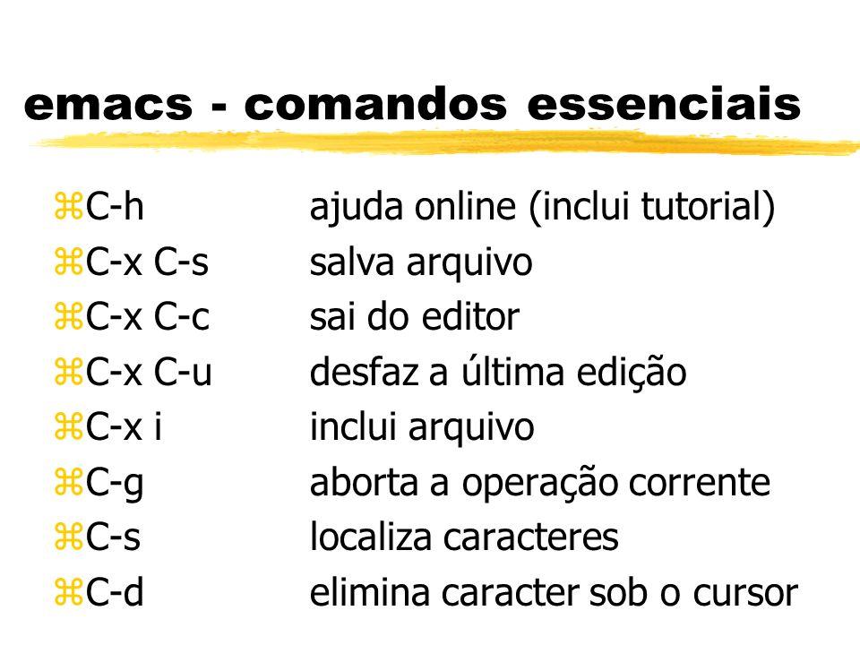 emacs - comandos essenciais
