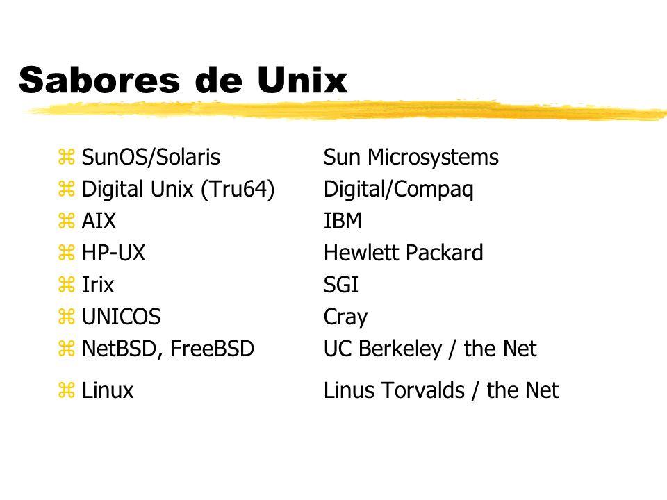 Sabores de Unix SunOS/Solaris Sun Microsystems